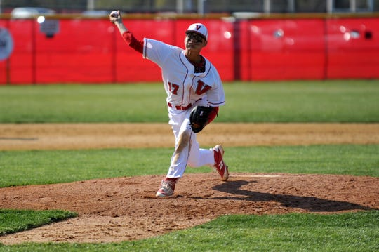 "Vineland's Jose ""Jo Jo"" Rodriguez throws a pitch during his scholastic days. He was selected by the Cincinnati Reds in the MLB Draft on Wednesday."