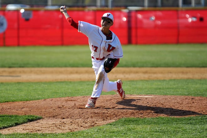 """Vineland's Jose """"Jo Jo"""" Rodriguez throws a pitch during his scholastic days. He was selected by the Cincinnati Reds in the MLB Draft on Wednesday."""
