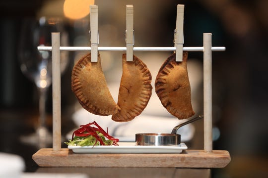 Chicken empanadas, one of the tapas served at Little Drunken Chef in White Plains.