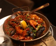 Seafood paella is a dish served at Little Drunken Chef in White Plains June 4, 2019.