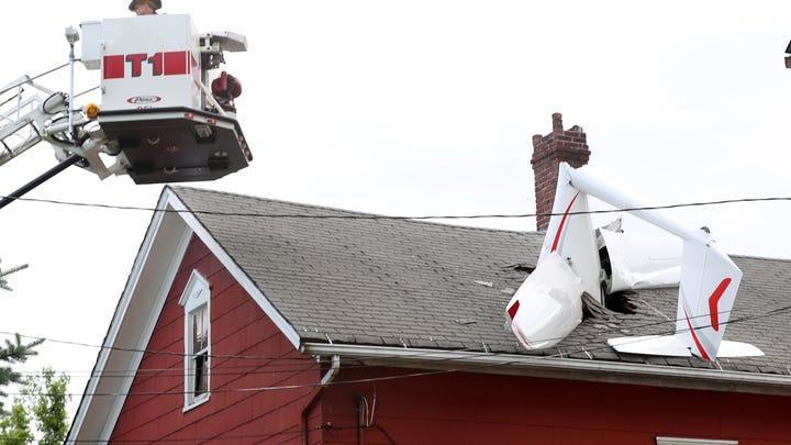 Glider crashes into Danbury home