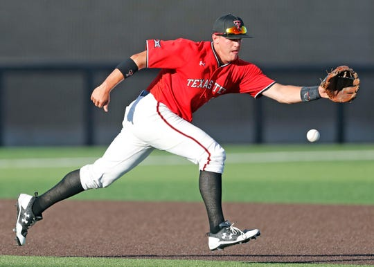 Texas Tech's Josh Jung was drafted by the Texas Rangers in the first round on Monday.