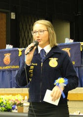 Her experiences in 4-H and FFA has helped Katrina Pokorny gain confidence not only in her public speaking skills but in dealing with a variety of people of all ages and of different cultures.