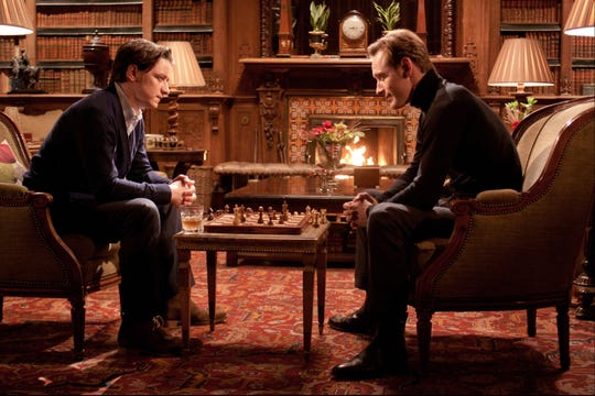 "Charles Xavier (James McAvoy, left) and Erik Lehnsherr (Michael Fassbender) have had a complicated relationship throughout the X-Men franchise. Here, they one of many games of chess in ""X-Men: First Class."""