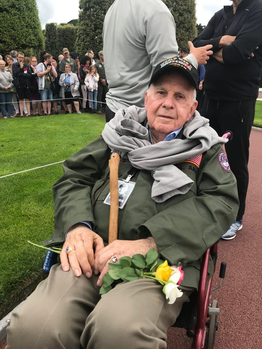 George Mills of Alabama arrived in Omaha Beach in France a few days after D-Day and went on to fight in several major battles, including the Battle of the Bulge. Now 98, Mills returned to Normandy this week for the 75th anniversary of D-Day.