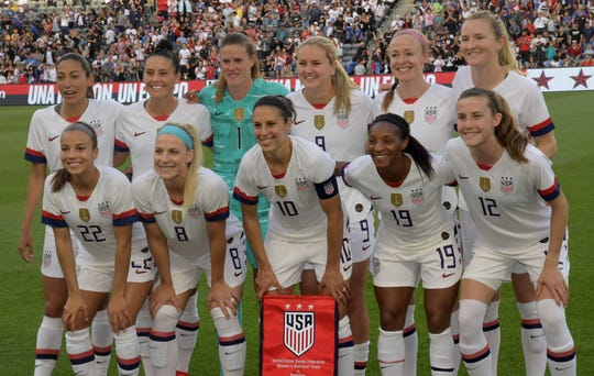 The U.S. women's national team is taking aim at back-to-back World Cup wins.