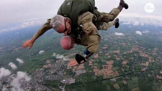 D-Day veteran, 97, parachutes into Normandy again – 75 years later
