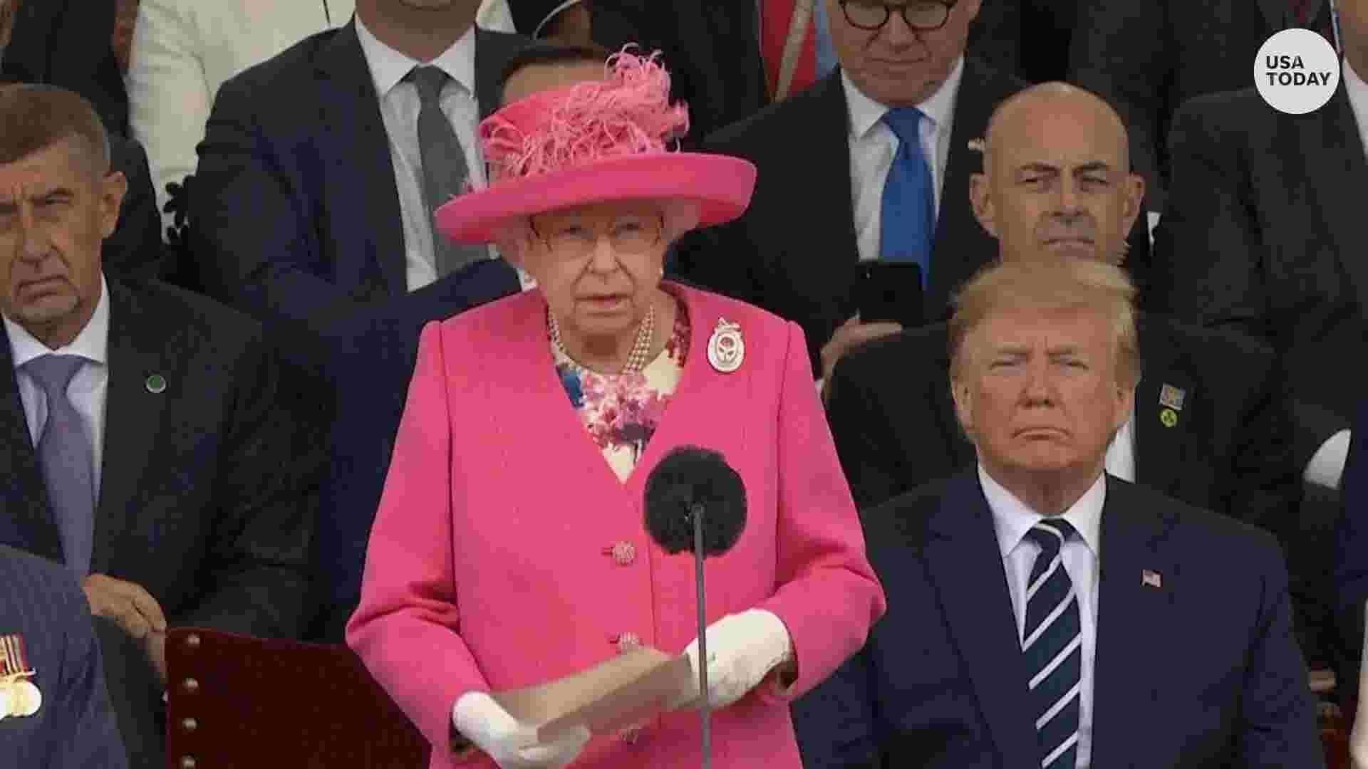 3f2b89d0e491 Trump reads FDR's D-Day prayer as Queen Elizabeth II, world leaders  remember World War II Normandy landing