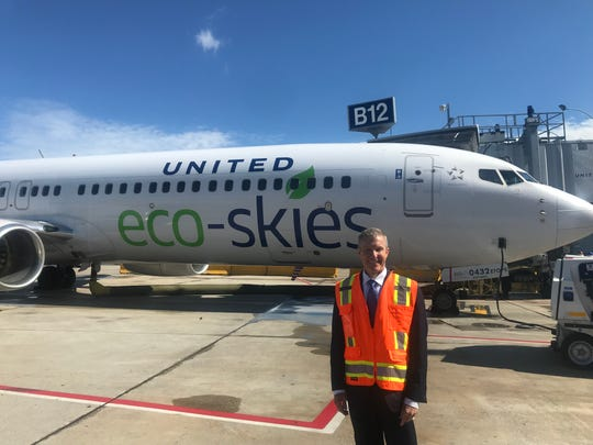 "United Airlines President Scott Kirby said the airline's ambitious environmental sustainability efforts are a ""personal priority.''"