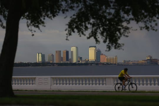 A view of downtown Tampa's skyline.