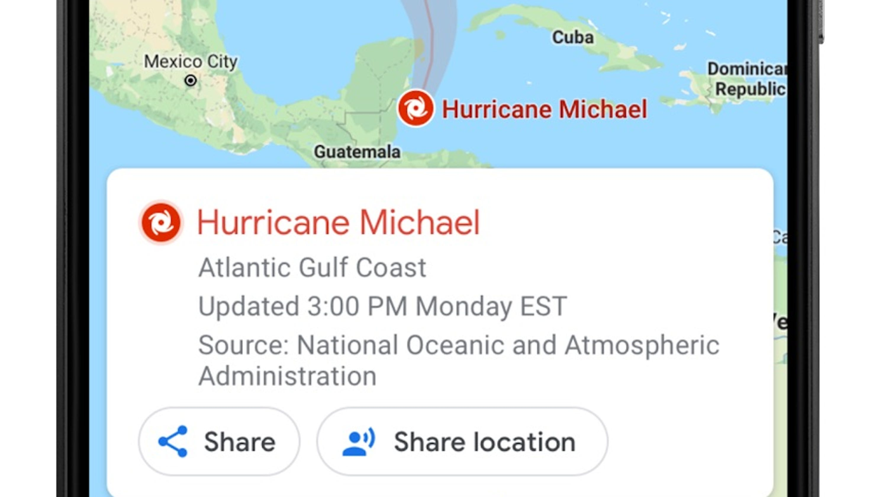 Google Maps adds tools to help you survive a hurricane ... on google map northern hemisphere, google map grand teton, google map nicaragua, google map tobago, google map montserrat, google map south sudan, google map new england, google map central african republic, google map central america, google map macedonia, google map canada, google map micronesia, google map india, google map managua, google map maryland, google map northern mariana islands, google map louisiana, google map antigua and barbuda, google map norfolk island, google map suisse,