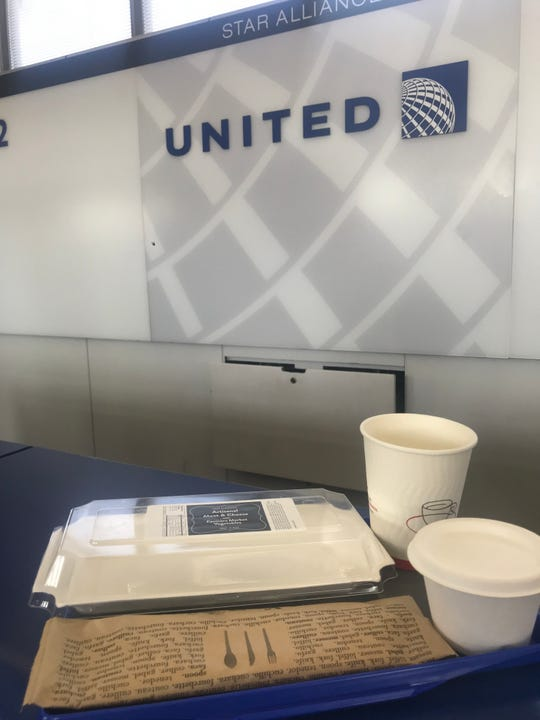 United's eco-friendly food and drink containers are all either compostable or recyclable.