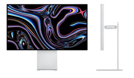 Apple's new Pro Display XDR monitor and stand.