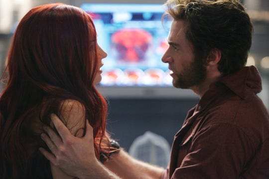 "Famke Janssen starred as Jean Grey opposite Hugh Jackman's ""Wolverine"" in ""X-Men: The Last Stand."""