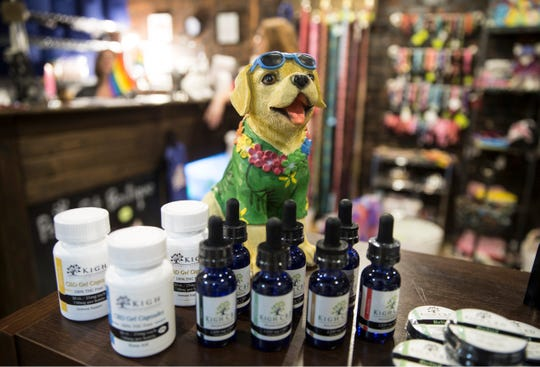 Kigh of Howell is a company that offers cannabis products made to keep humans and animals healthy. Paws Pet Boutique in Asbury Park sells the local companies products.   