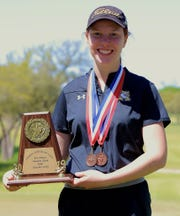 Abilene High golfer Lyra Rains committed to play at LeTourneau next season during a ceremony at AHS on Thursday morning. Rains was second-team All-District 3-6A and first team Academic All-State as a senior.