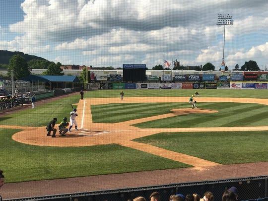 Action from Lakeland vs. Maine-Endwell baseball Thursday at NYSEG Stadium.