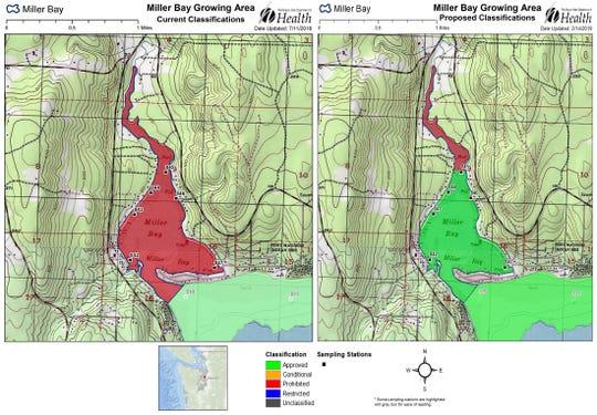 Miller Bay Growing map
