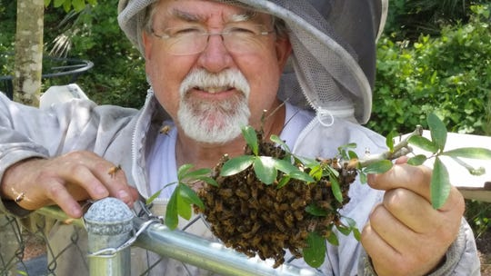 Larry Wilson, who grew up in the bakery business, now  owns Pappa's Backyard Honey.