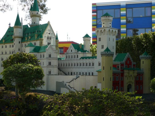 Legoland Billund features replicas of European landmarks such as Mad King Ludwig's castle, Neuschwanstein.