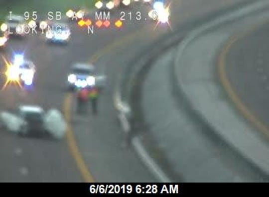 The crash was reported at 6 a.m. at mile marker 213, just north of State Road 407, in Titusville, according to the Florida Highway Patrol.