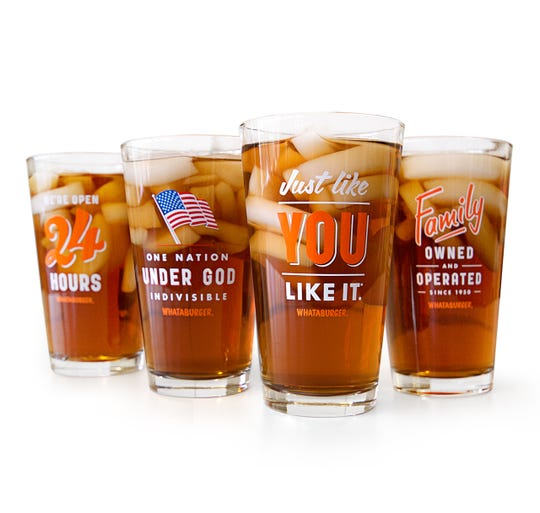 Whataburger Window Cling Pint Glasses (a set of four) are available for $19.99 on Whataburger's website.