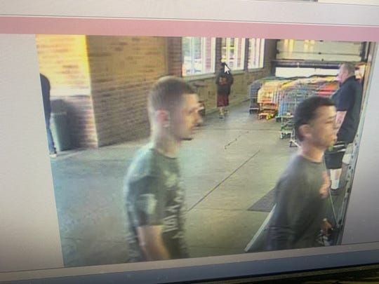 Erlanger Police Department released this photo of the suspect they seek. He is described as  clean-shaven white male with a tattoo on the left side of his neck with a slight mustache. If you see anyone matching this description call Kenton Co Dispatch 859-356-3191.
