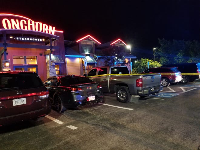 Clarksville Police investigating a double shooting outside the Longhorn Steakhouse on Wilma Rudolph Boulevard as of 10:30 p.m. on Wednesday, June 5.