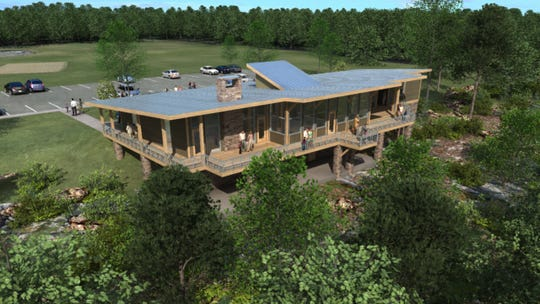 Artist conception of the Wade Bourne Nature Center