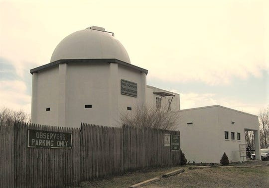 The exterior of the Voorhees State Park observatory in Glen Gardner.