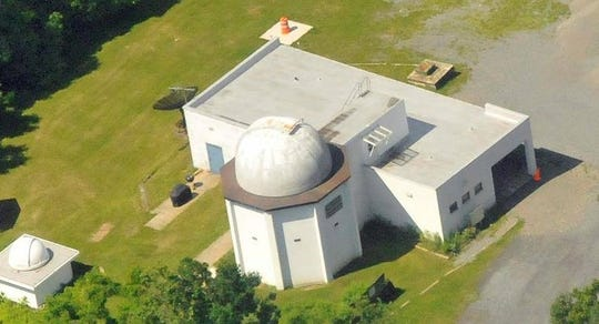An aerial view of the observatory.