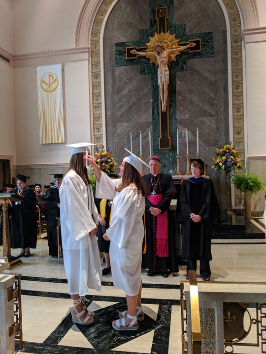A student from the Mount Saint Mary Academy, Watchung, Class of 2019 has her tassel turned at the Saturday, June 1, commencement exercises held at the school.