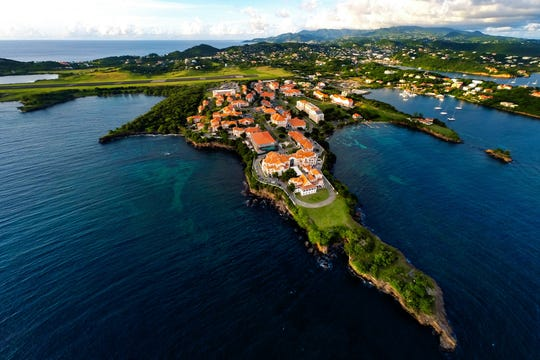 St. George's University is located in Grenada, with students attending its' medical school from all over the world