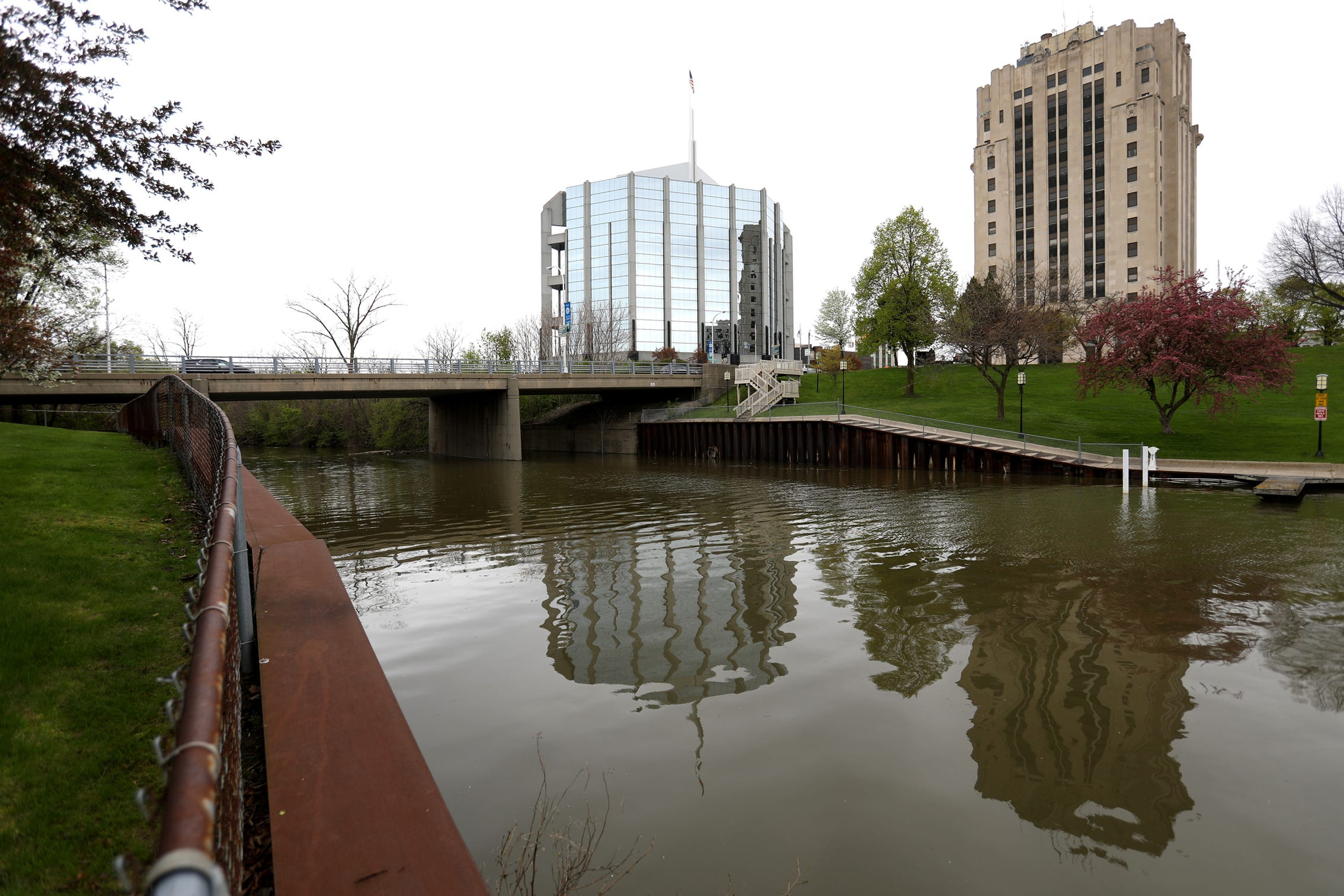 The Crocker Boulevard Bridge that goes over the Clinton River in Mount Clemens as seen in May. The bridge, built 59 years ago, is rated in serious condition.