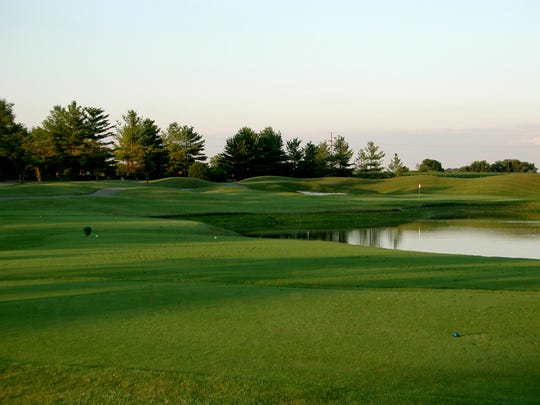 No. 4 hole at Stonebridge Golf Club in Ann Arbor.