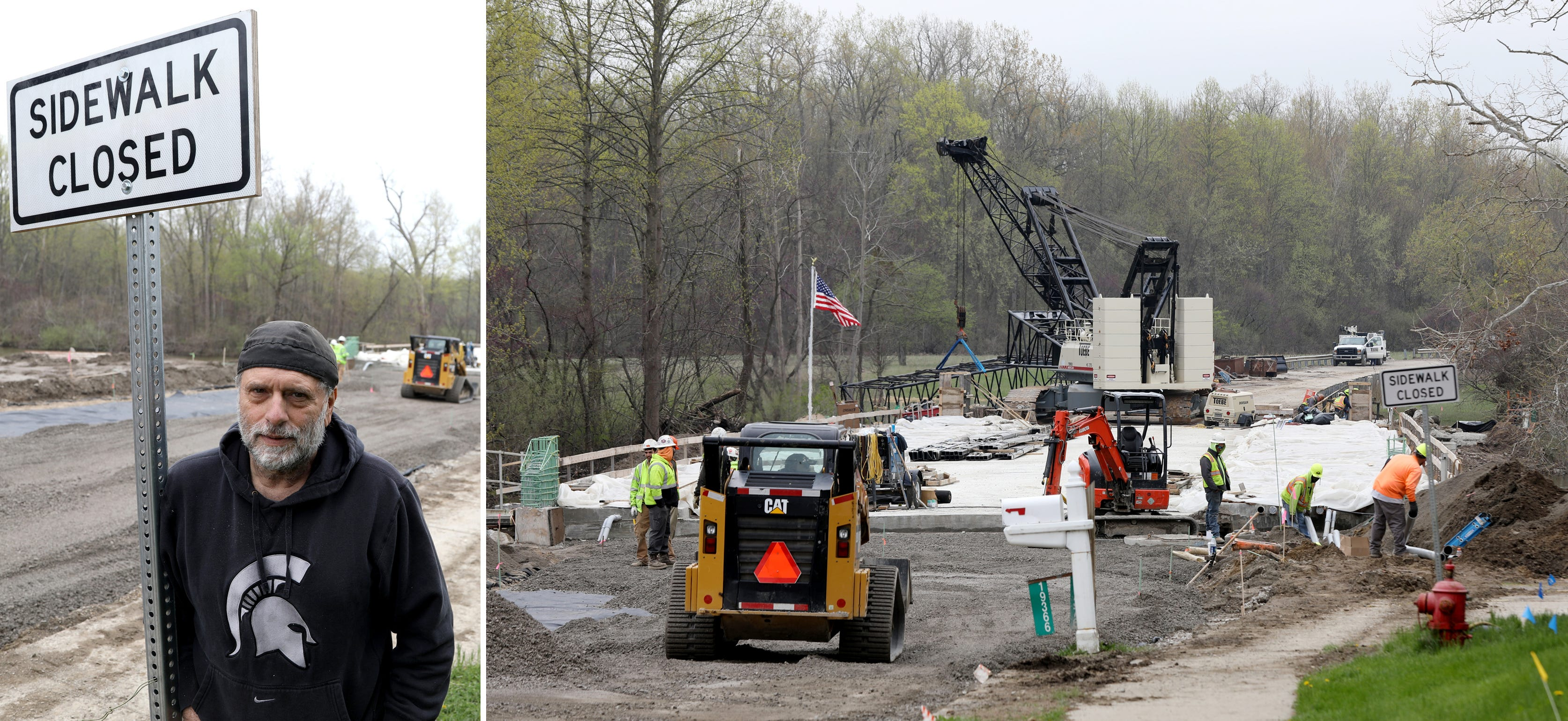 Work continues in April at the Waltz Road Bridge in New Boston. The bridge was closed for nearly two years.