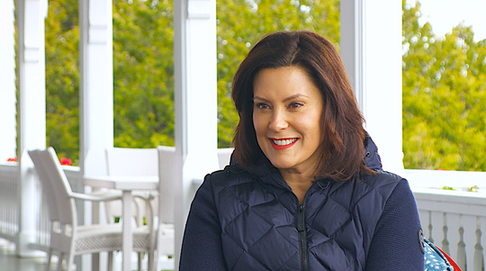 Gov. Gretchen Whitmer on May 28, 2019, at the Governor's Summer Residence on Mackinac Island.