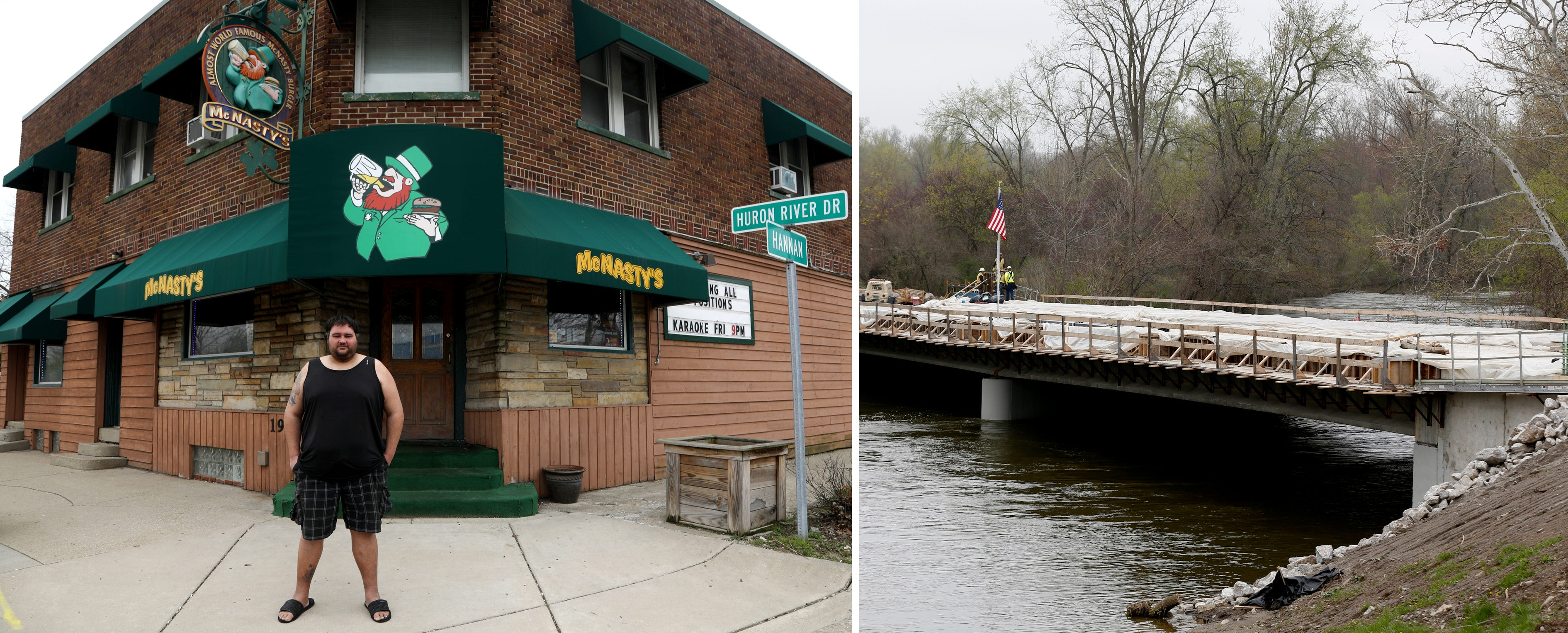 Chad Frazier, McNasty's Saloon and the nearby Waltz Road Bridge that heavily curtailed business for two years.