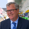 Former Florida Gov. Jeb Bush on May 30, 2019, on the porch of the Grand Hotel on Mackinac Island.