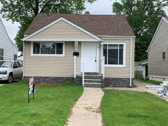 This four-bedroom house in Hazel Park is listed at $119,900.