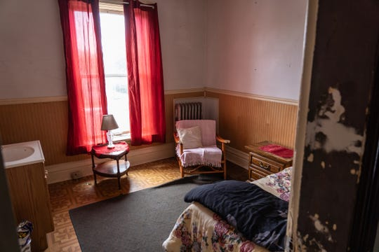 A room in the Yale Hotel that manager Shelley O'Brien is planning to fix to allow women in states that have recently banned or restricted abortions to come for access to reproductive health services is seen at the hotel in Yale on Thursday, May 30, 2019. O'Brien offered in a Facebook post to put the women up for free at the hotel, and provide them transportation to their medical appointments here in Michigan.