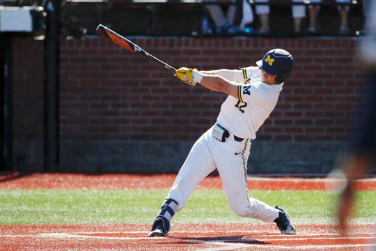 Riley Bertram is a freshman infielder for Michigan.