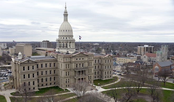 The Michigan Capitol is seen in a file photo from Lansing.