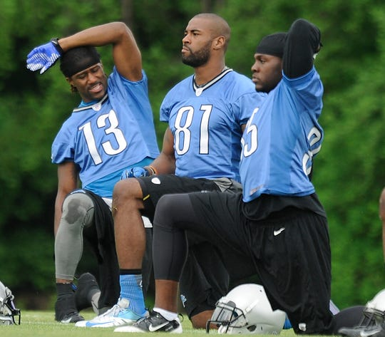 Nate Burleson and Calvin Johnson in 2013