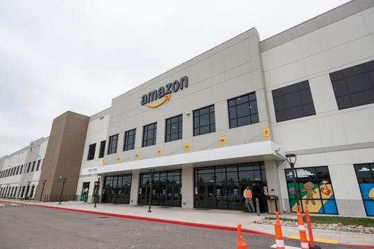 The Amazon fulfillment center in Romulus, June 6, 2019.