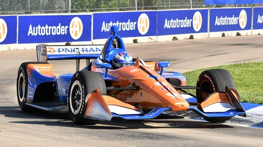Honda provides the engines for Scot Dixon's Detroit Grand prix-winning IndyCar.