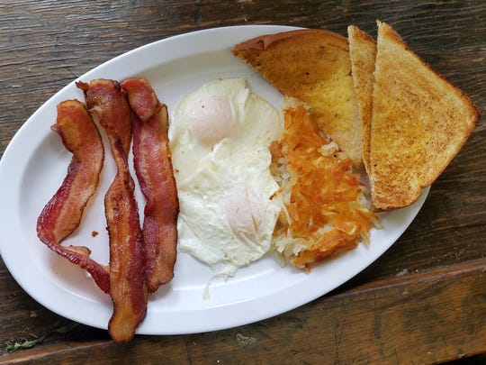 Breakfast platter from Savannah's Cafe on Stringtown Rd.