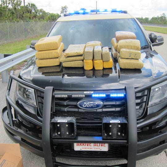 A traffic stop by Florida Highway Patrol troopers along the I-75 Alligator Alley corridor in Collier County came with a bit of a bonus Wednesday: a load of marijuana worth more than $1 million.