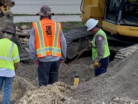 A construction crew hit a main natural gas line Thursday morning, June, 6, 2019, on Cleveland Avenue by Beacon Manor Drive.