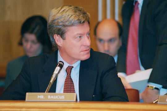 Sen. Max Baucus during a 1997 U.S. Senate Finance Committee hearing.